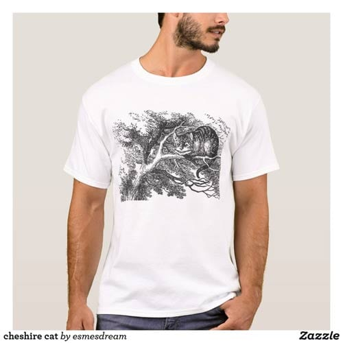 Illustrated Cheshire Cat T-shirt