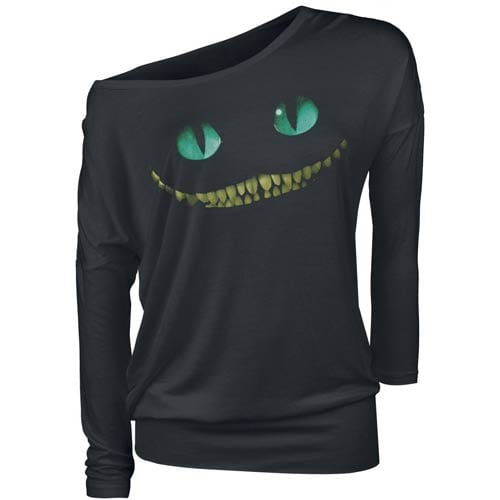 Cheshire Cat off the shoulder t-shirt